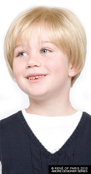 Logan_front,Amore Childrens, Rene of Paris Wigs,(color shown is Gold Blond)