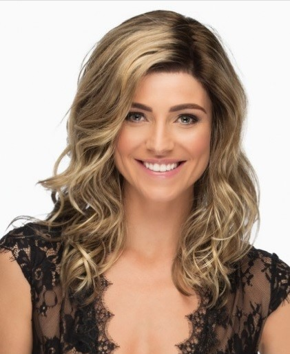 Alden_Front, High Society Collection by Estetica Wigs, color shown is RH12/26RT4