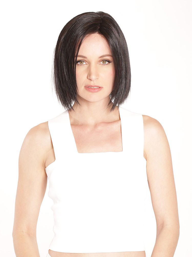 Cafe Chic_Front, Cafe Collection by Belle Tress Wigs, Color shown is Coffe w/o Cream