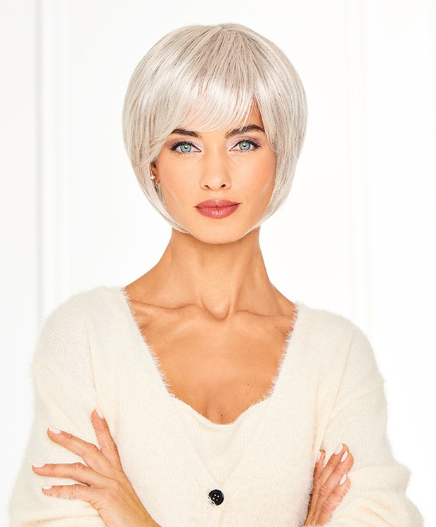 Cameo Cut_Front, Gabor Collection by Hairuwear Wigs, Color Shown is  GL56-60 Sugared Silver