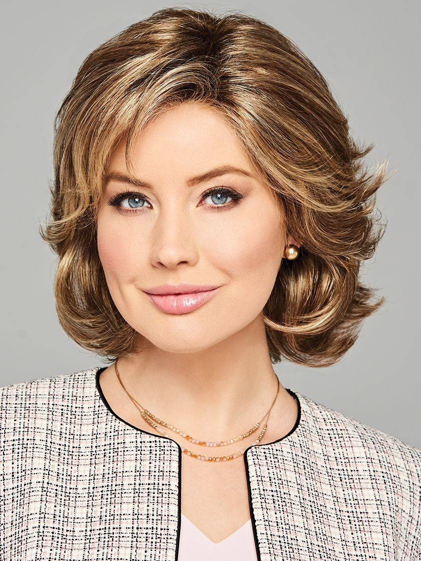 Debutante_Front, Luxury Collection by Eva Gabor Wigs, Color Shown: GL11-25SS SS Honey Pecan