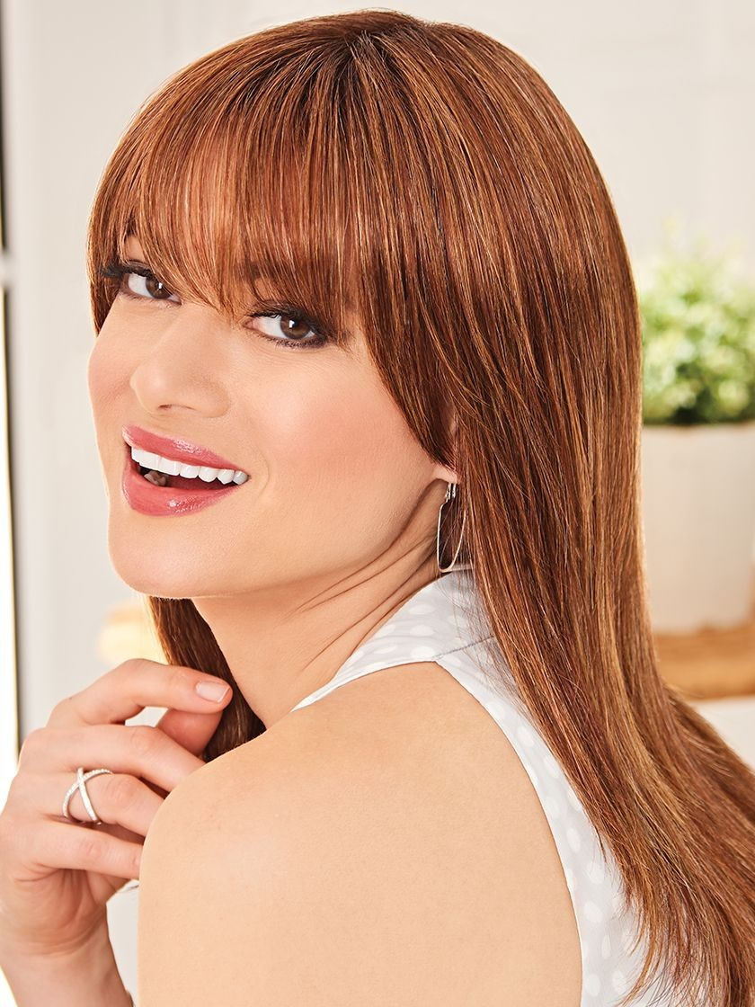 Trending Tresses_Front, Luxury Collection by Eva Gabor Wigs, Color Shown: GL29-31SS SS Rusty Auburn