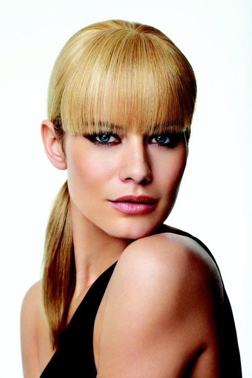 Human Hair clip in bangs_front,Hair Addition,Raquel Welch(color shown is R25 Ginger Blonde)