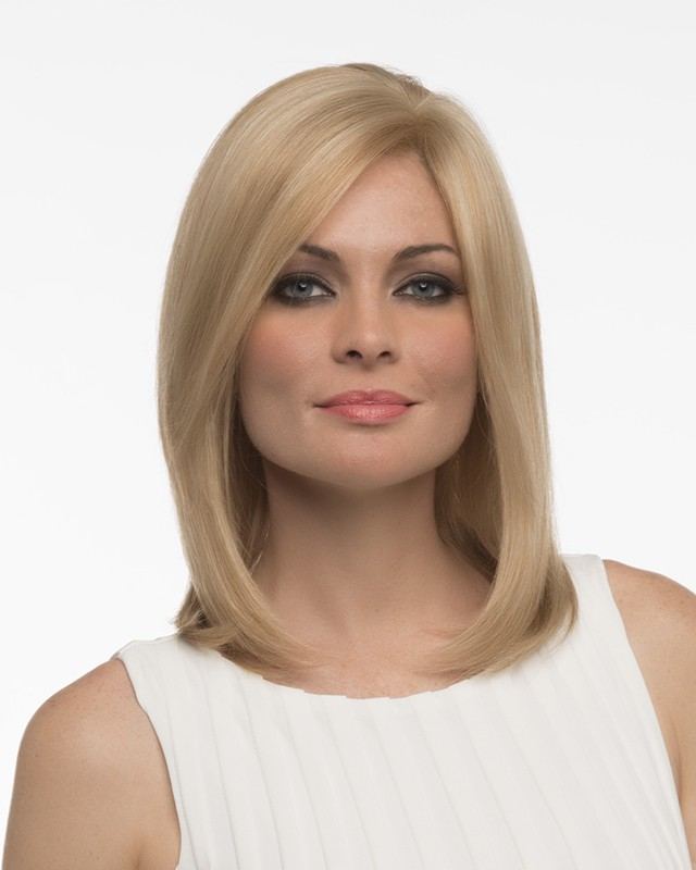 Hannah_front,Human Hair,Envy Wigs (color shown is Dark Blonde)