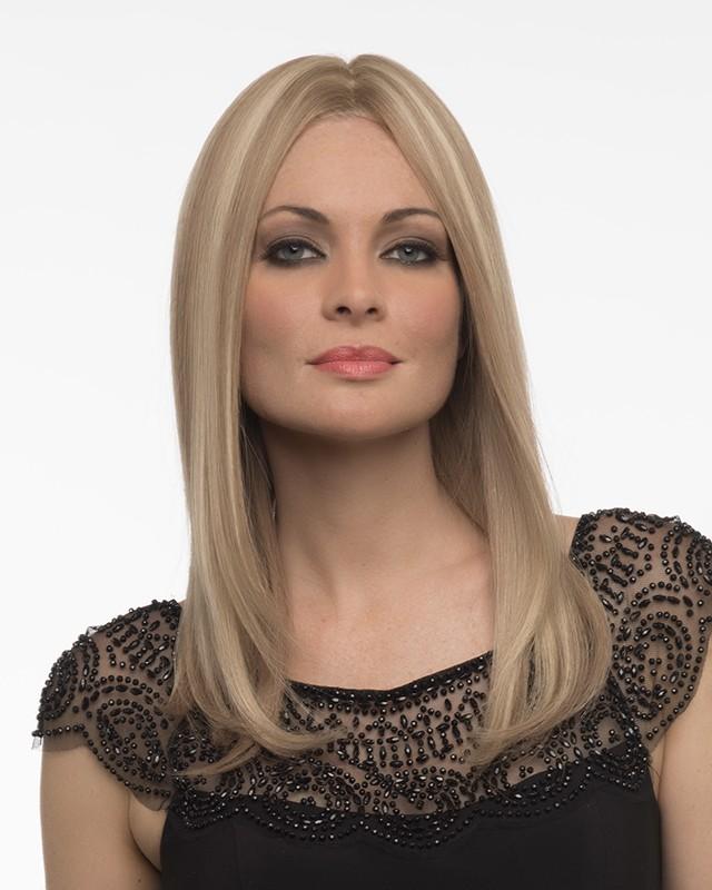 Sophia_front,Human Hair,Envy Wigs (color shown is Dark Blonde)