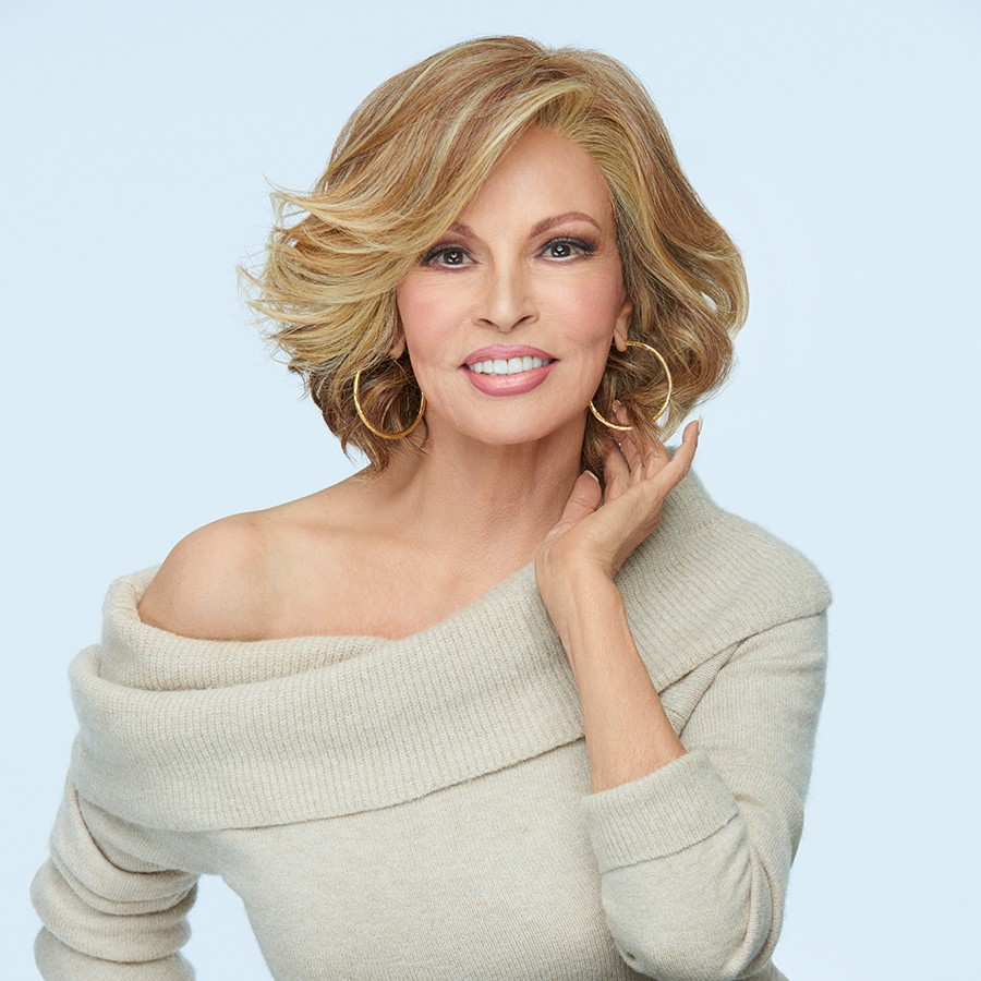 Flirt Alert_front, sheer indulgence wig collection by raquel welch, color shown is RL29/25