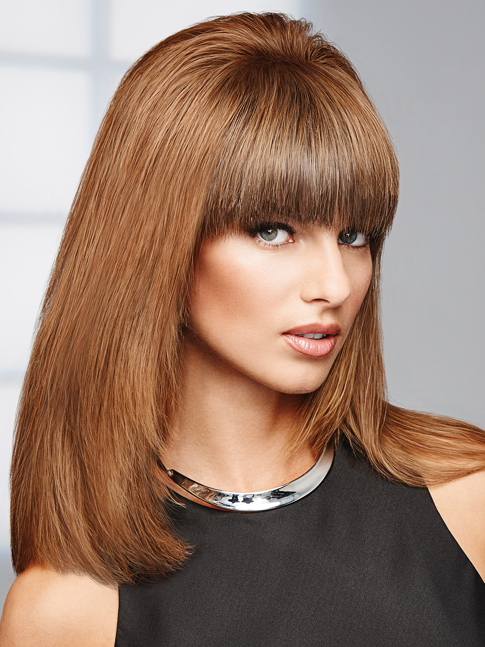 Game Changer Top Piece_front,Human Hair Topper Collection,Raquel Welch Wigs (color shown is R10)