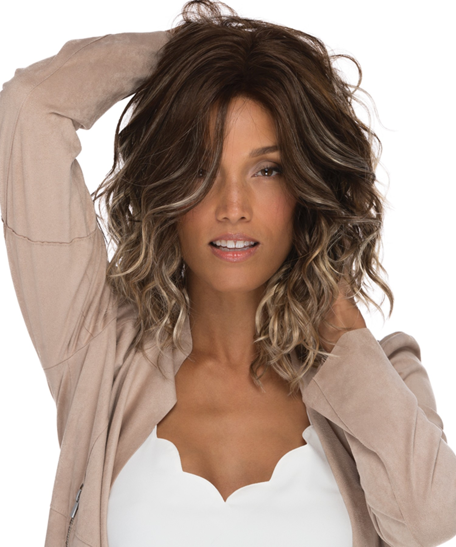 Avalon_ Front, Naturalle Front Lace Collection by Estetica Wigs, Color shown is Iced Mocha