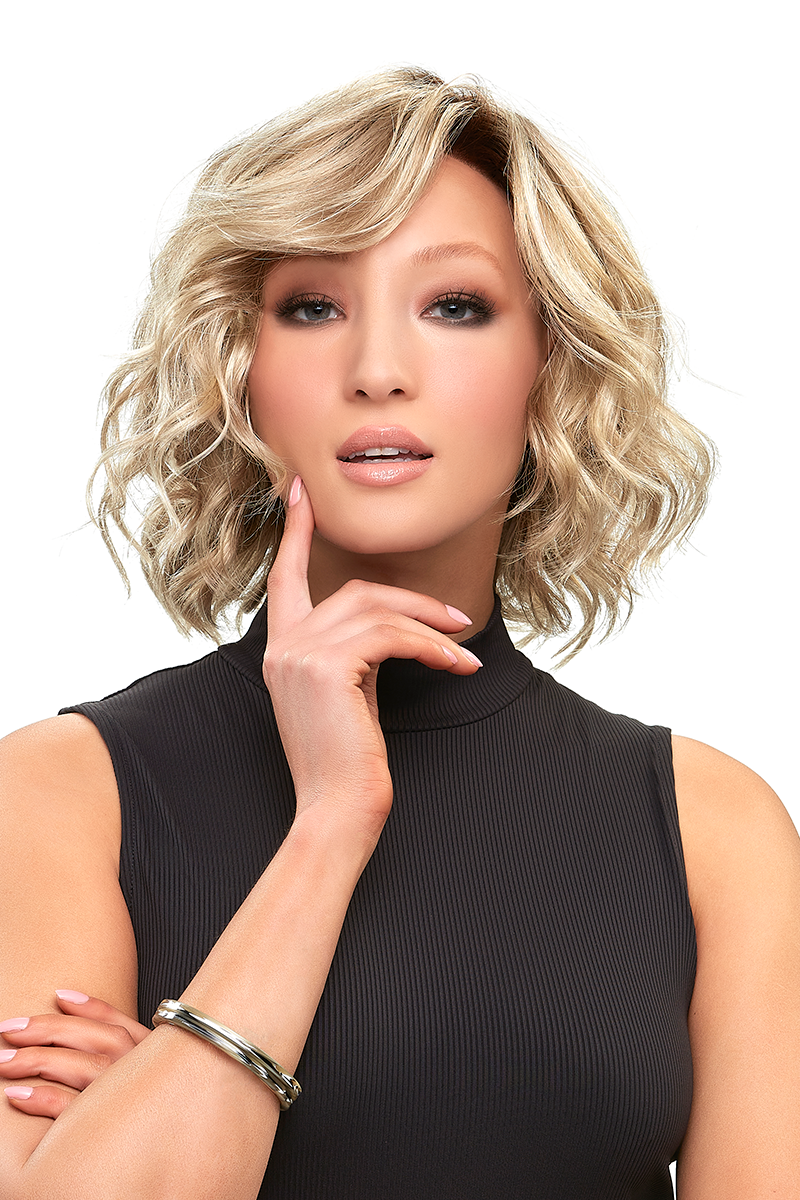 January Hand tied_Front, Lace Front Collection by Jon Renau Wigs,Color Shown is 22F16S8