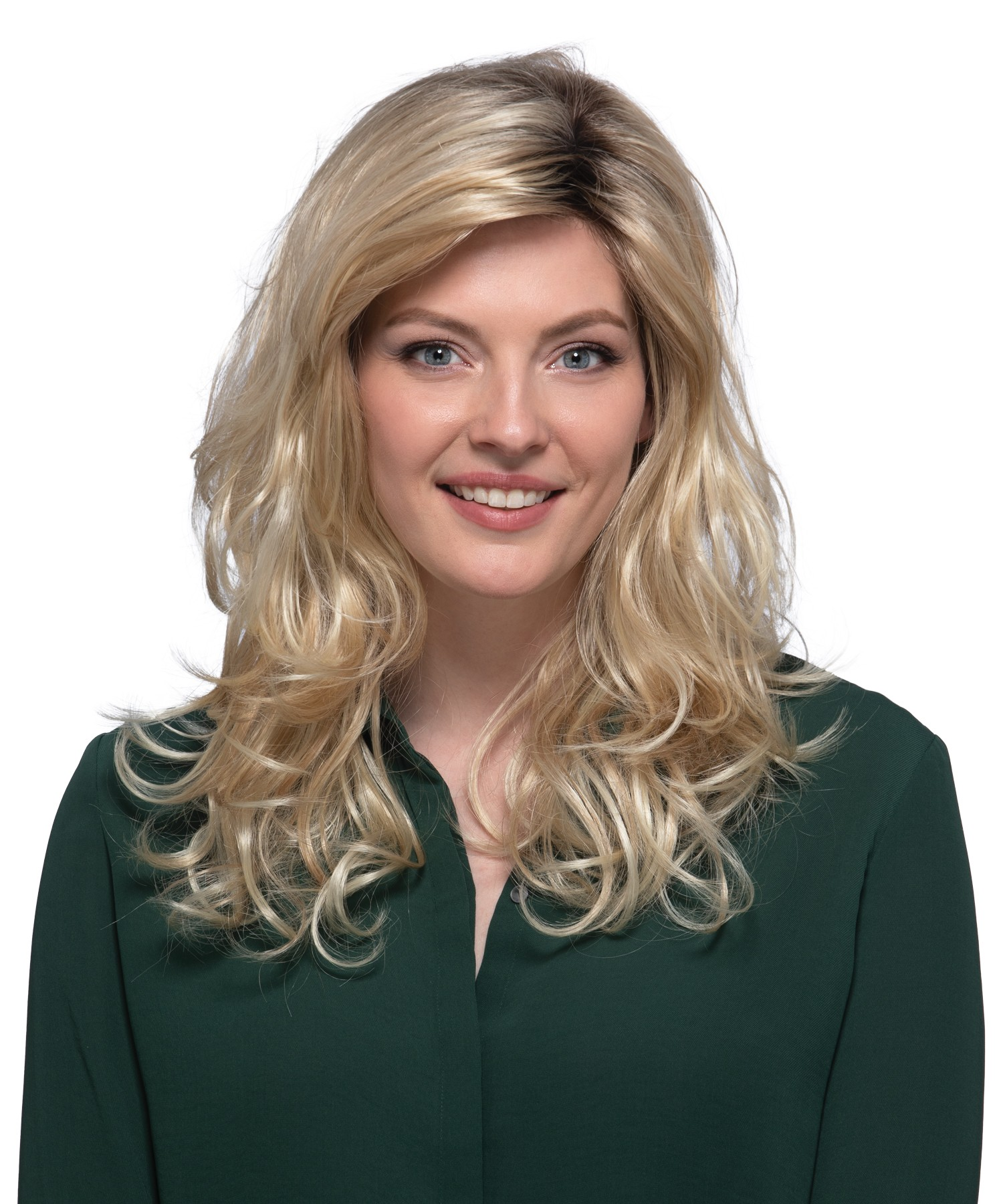 Petite Sedona_Front, Naturalle Collection by Estetica Designs Wigs, Color shown is RH26/613RT8