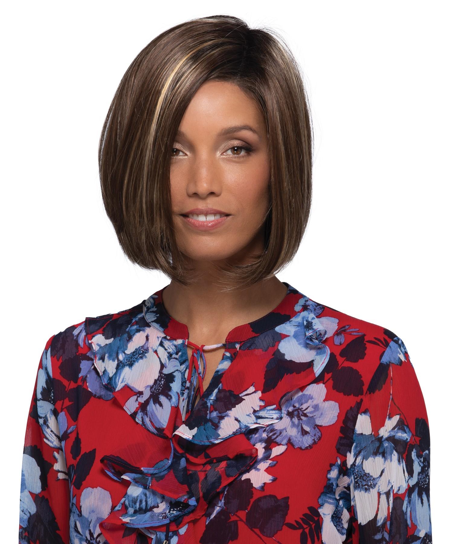 Petite Sullivan_Front, Naturalle Collection by Estetica Designs Wigs, Color Shown is CKISSRT4