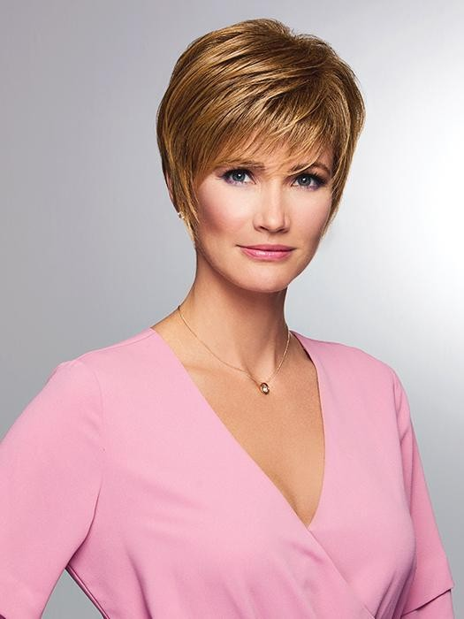 Elation_Front, Gabor Essentials Collection by Eva Gabor Wigs, color shown is Brown-Blonde