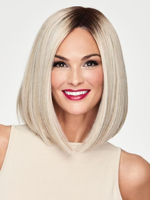 Current Events_Front, Sheer Indulgence Collection by Raquel Welch Wigs, Color Shown is Current Events_Front, Sheer Indulgence Collection by Raquel Welch Wigs, Color Shown is RL16/22SS Shaded Iced Sweet Cream