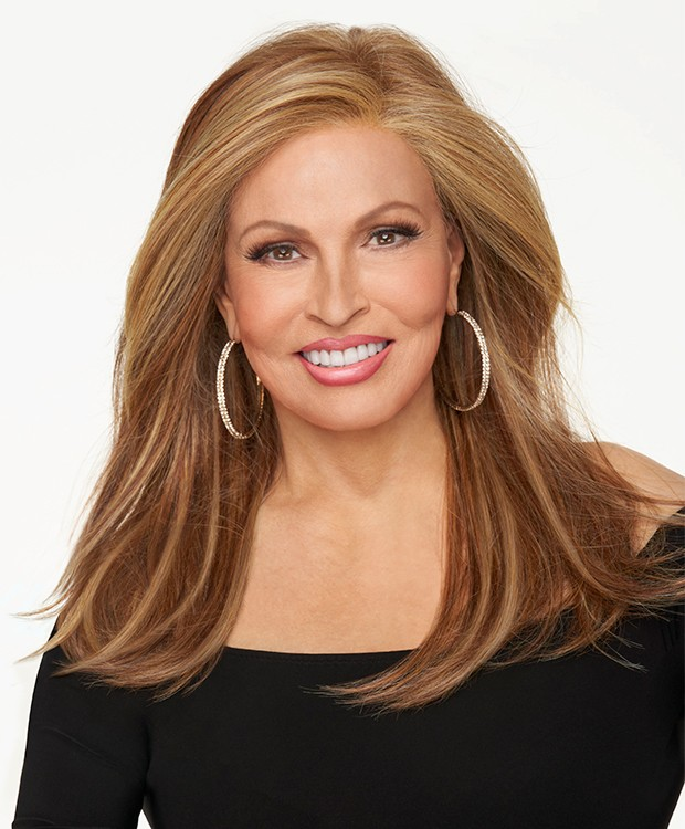 Mesmerized_Front, Sheer Indulgenced Collection by Raquel Welch Wigs, Color Shown is RL29/25 Golden Russet