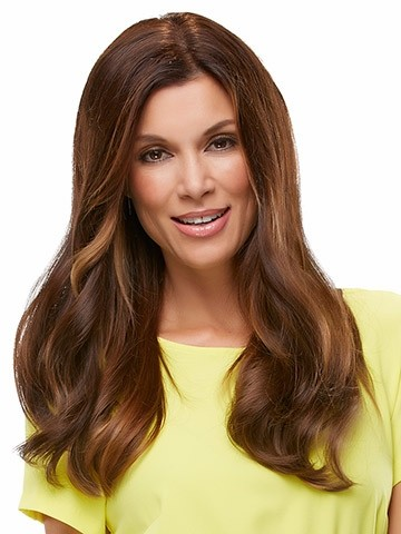 "Top Form 18""_front,Human Hair Addition Collection,Jon Renau Wigs (color shown is 6RN)"