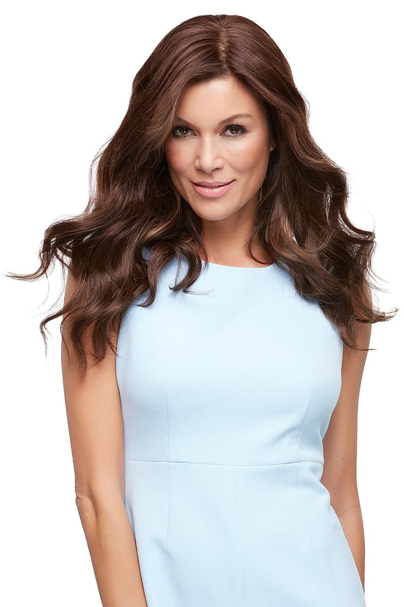 "Top Style Human Hair 18"" Exclusive Colors_front,Hair Addition,Jon Renau Wigs (color shown is 6RN)"