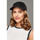 Curly Hat Black_front,Hair Accents Collection,Henry Margu Wigs (color shown is 27AH)