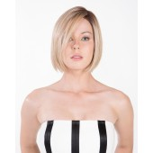 Bellissima_Front, Cafe Collection by Belle Tress Wigs, Color Shown is Honey w/Chai Latte