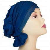 Muriel_Teal Blue Ruffle,Chemo Beanie