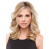 "Easipart XL HD 18""_front,Synthetic Heat Defiant Hair Addition,Jon Renau Wigs (color shown is 12FS8)"