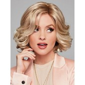 Twirl & Curl_Front, Luxury Collection by Eva Gabor Wigs, Color Shown: GL14-22SS SS Sandy Blonde