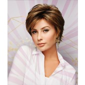 Hope_Front, Gabor Essential Collection, Eva Gabor Wigs, Color shown is Brown/Blond