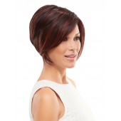 Ignite_partial front,Heat Defiant,Jon Renau Wigs (color shown is Chocolate Cherry)