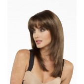 Leyla_front,Mono part collection,Envy wigs,Color shown is Medium Brown