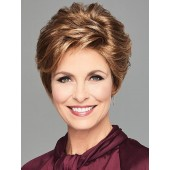 Stylish Flair_Front, Luxury Collection by Eva Gabor Wigs, Color shown is GL27-29