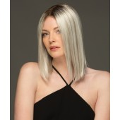Sutton_Front, High Society Collection by Estetica Wigs, Color shown is  SILVERSUNRT8