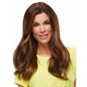"Top Form 18""(EXCLUSIVE)_front,Human Hair Addition Collection,Jon Renau Wigs (color shown is 6RN)"