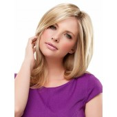 Top Notch_front model view,Synthetic Hair Addition Collection,Jon Renau Wigs (color shown is 12FS8)