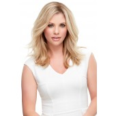 "Top Style Human Hair 12""_front,Hair Addition,Jon Renau Wigs (color shown is 12FS8)"